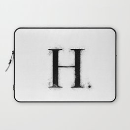 H . - Distressed Initial Laptop Sleeve