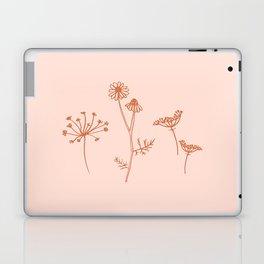 Wildflower Line Art Laptop & iPad Skin