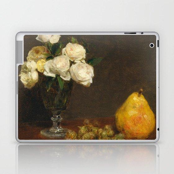 Henri Fantin-Latour - Still Life With Roses And Fruit Laptop & iPad Skin