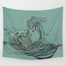 Kissing The Wave Wall Tapestry