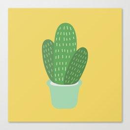 Cute Cactus Illustration Canvas Print