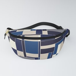 Blue abstract city Fanny Pack