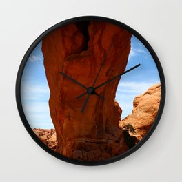 The Base Of An Arch Wall Clock