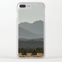 Rocky Mountain Haze Clear iPhone Case
