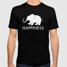 Happiness LARGE Mens Fitted Tee Black