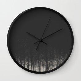 Smoke Trees Wall Clock