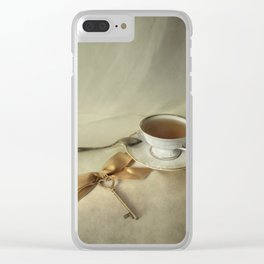 Golden Key Clear iPhone Case