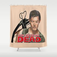 daryl dixon Shower Curtains featuring Daryl Dixon Walking Dead by store2u