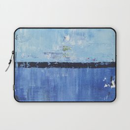 Shiver Abstract Art Blue Modern Water Painting  Laptop Sleeve