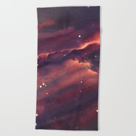 Space Nebula Beach Towel