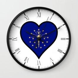 Love Illinois Wall Clock