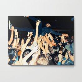 Stage Diving Metal Print