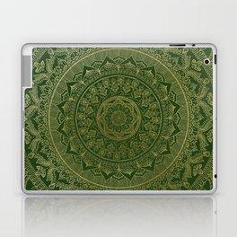 Mandala Royal - Green and Gold Laptop & iPad Skin