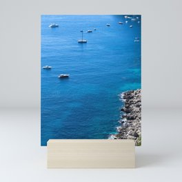 Smooth Sailing in Capri Mini Art Print