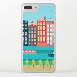 Amsterdam Clear iPhone Case