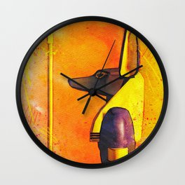 Anubis - Jackal God of Ancient Egypt Wall Clock