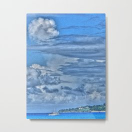 Clouds and Boat, Frederiksted - St. Croix, U.S. Virgin Islands - 2011 Metal Print