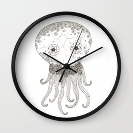 Cracked Octopus Wall Clock