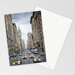 NEW YORK CITY 5th Avenue Street Scene Stationery Cards