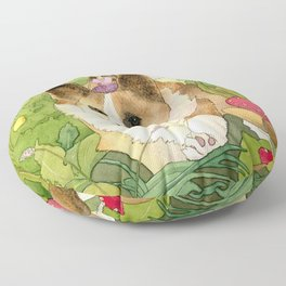 The Faerie and the Welsh Corgi Floor Pillow