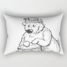 drumer bear Rectangular Pillow