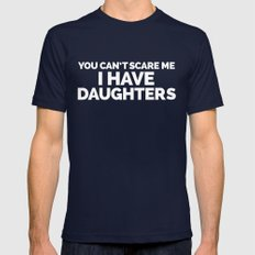 I Have Daughters Funny Quote Mens Fitted Tee Navy X-LARGE
