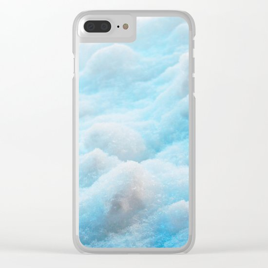 Blue Snow Clear iPhone Case