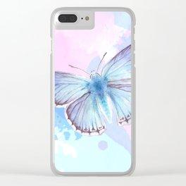 Blue Lagoon Splash Clear iPhone Case