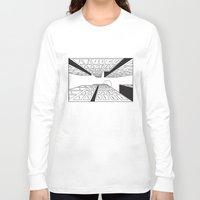 buildings Long Sleeve T-shirts featuring Buildings by Koral Feria
