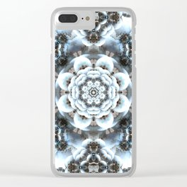 Snow Serenity Mandala Clear iPhone Case