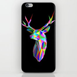 3D Stag Black Background iPhone Skin