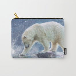 A polar bear at the water Carry-All Pouch