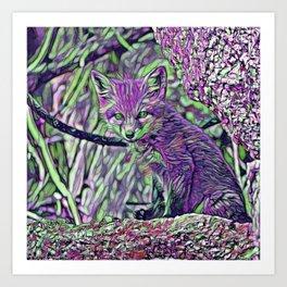 ColorMix Baby Fox Art Print