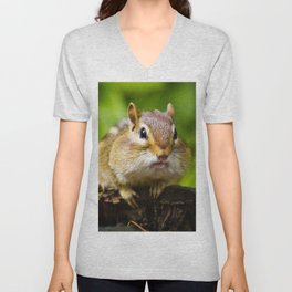 Caught With His Mouth Full Unisex V-Neck