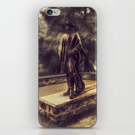 Stevie Ray Vaughan Statue - Austin, Texas - Graphic 2 iPhone Skin