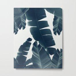 Banana Leaves Green Blue Vibes #2 #tropical #decor #art #society6 Metal Print