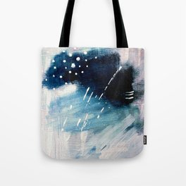 Meteor Shower - an abstract acrylic piece in blue and white Tote Bag