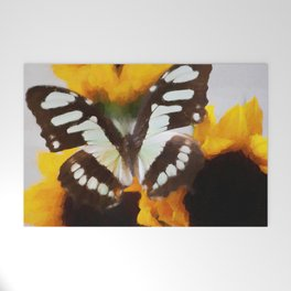 Summer Butterfly Welcome Mat