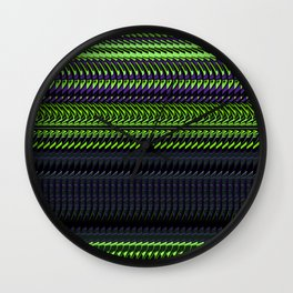 Apple Grape Rag Weave by Chris Sparks Wall Clock