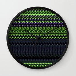 Apple Grape Rag Weave by Chris Sparks Wall Clock