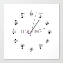 It's Time Clock Canvas Print
