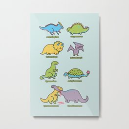 know your dinosaurs Metal Print