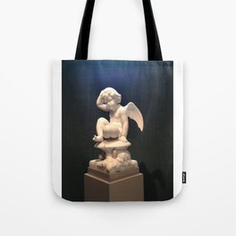 Contemplative Cupid Tote Bag