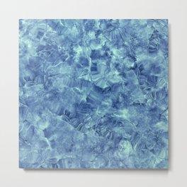 Blue onyx marble Metal Print