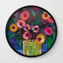 A Bouquet of Joy Wall Clock