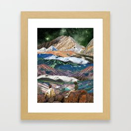 Infinite mountains Framed Art Print
