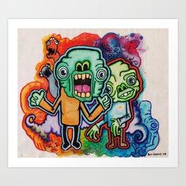 Greenmen. Art Print
