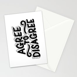 Agree To Disagree Stationery Cards