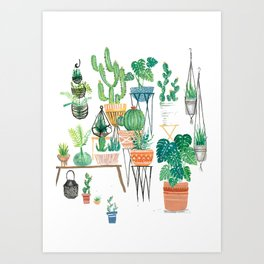 Potted Jungles Art Print