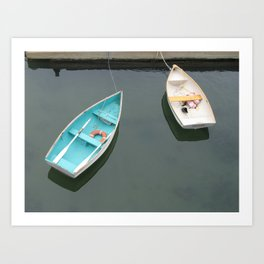 Two Rowboats Waiting for a Friend Art Print